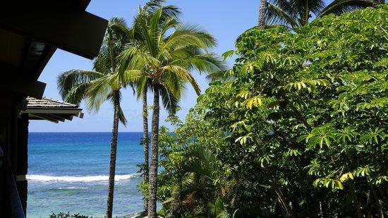 Koa Kea Hotel & Resort: Blick von unserem Zimmer - Partial Ocean View 2.Stock