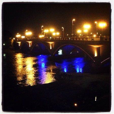 Scioto Mile: Bridge on the mile.