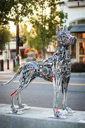 Arts Council of Lake Oswego: Brian Mock - Guardian of the Lake, reclaimed metal