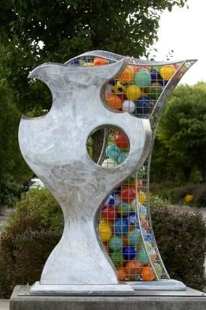 Arts Council of Lake Oswego: Merrilee Moore - Complement II, glass, stainless steel