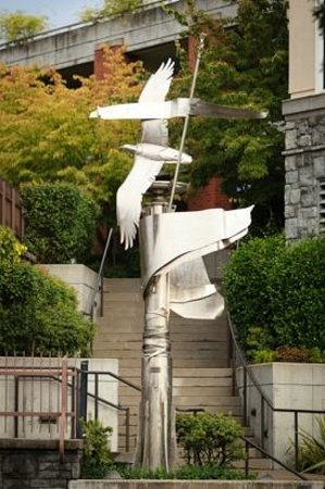 Arts Council of Lake Oswego: Devin Laurence Field - Zephyr, stainless steel