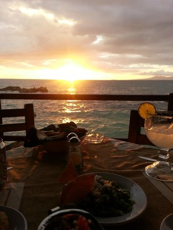 Quinta Maria Cortez: Sunset view at La Playita, restaurant just down the beach