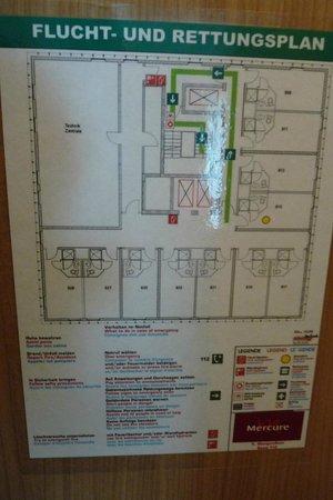 Mercure Hotel Hamburg Mitte: Zimmer 915, Etagenplan