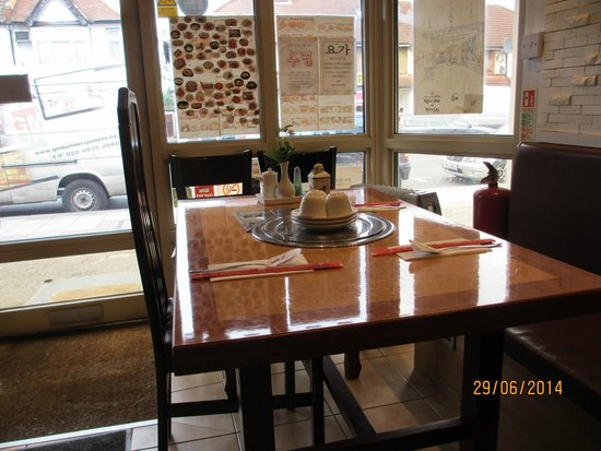 You Me Korean Restaurant: One of the tables in =side.