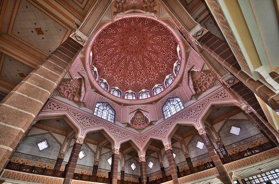Mosquée de Putrajaya : interieur dome
