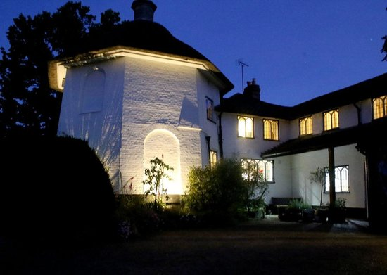 The Round House Bed and Breakfast: The Round House at night