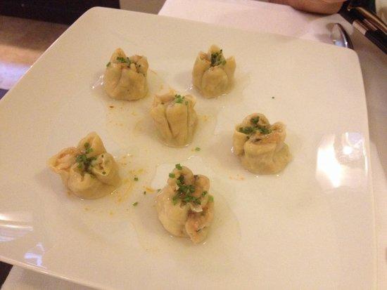 Ristorante Lin: Ravioli di pesce al vapore