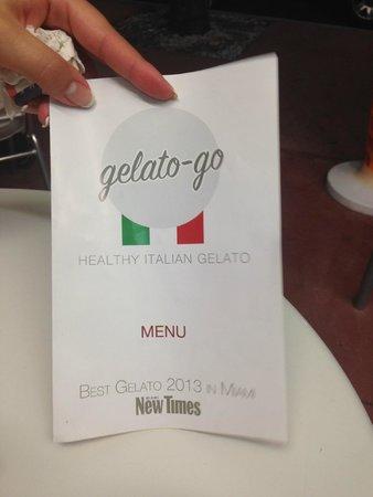 Gelato-go South Beach : Салфетка с адресом