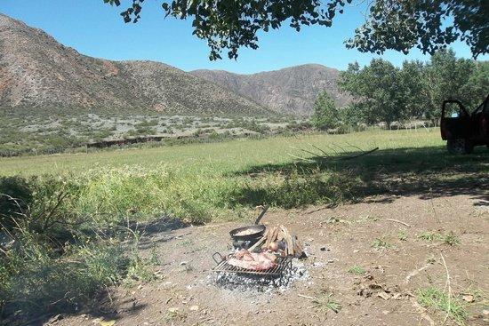 Cabanas Pueblo del Rio: asadito en cabalgata