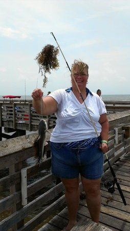 Galveston's 61st Street Fishing Pier : Inger's catch of the day!