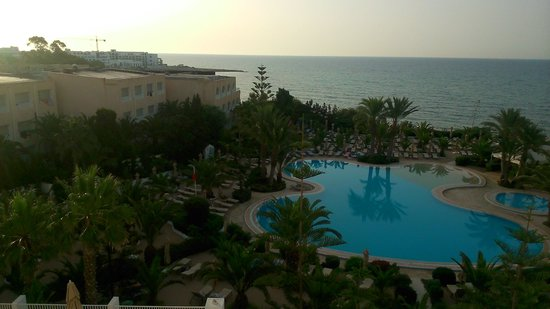 SENTIDO Aziza Beach Golf & Spa: from our balcony view at 6am the 29th June before we left for home