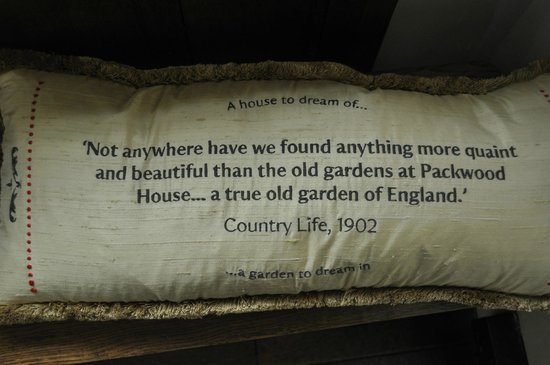 Packwood House: says it all