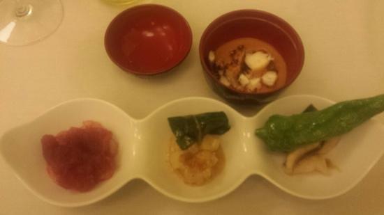 Ristorante Manna: 4 diversi pesci con quattro diverse proposte di accostamento, una più buona dell'altra!
