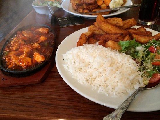 Leven, UK: Thai chicken sizzler !!! Amazing