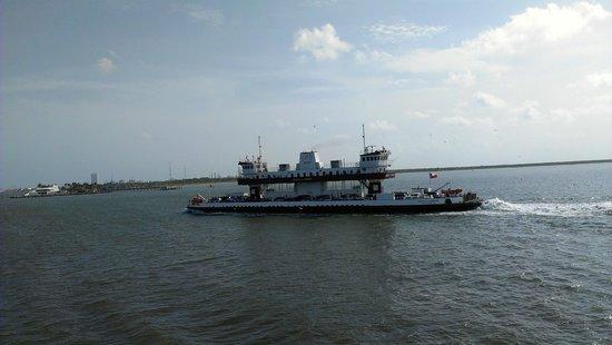Galveston - Port Bolivar Ferry: Ferry to Island