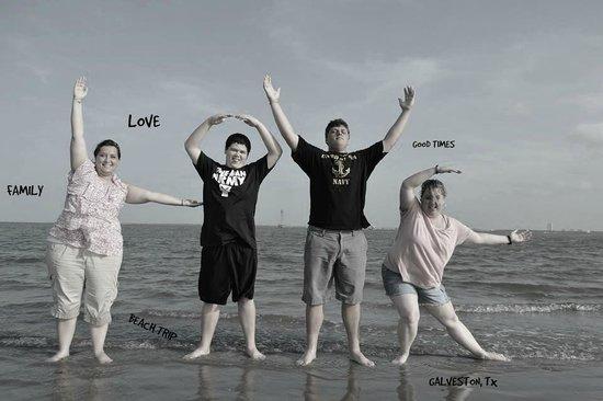 Galveston - Port Bolivar Ferry: Our Family!