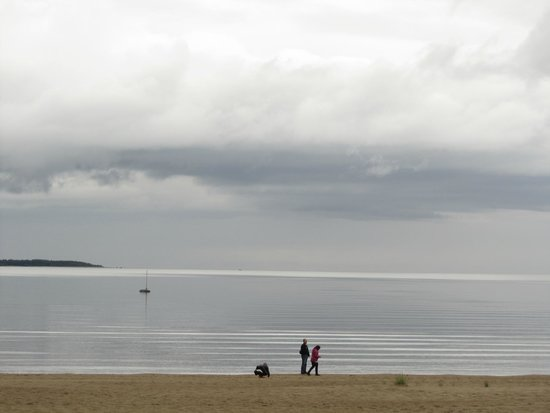 Yyteri Beach: The wind has calmed down after the rain in June 2014