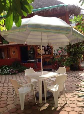 Hotelito Swiss Oasis : Plenty of places to have breakfast, play cards, have a beer or just chill.