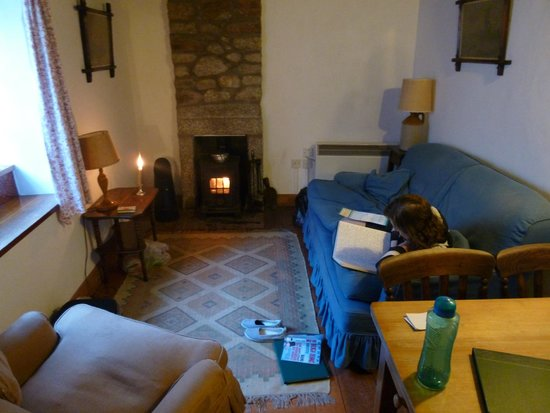 Castle Keep North : lounge and solid fuel stove
