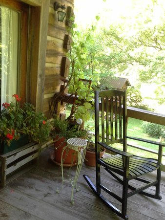 Snug Hollow Farm Bed & Breakfast: This is the most relaxing porch.