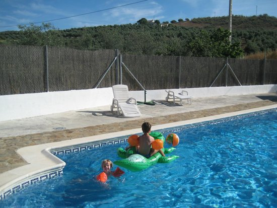 Cortijo Las Olivas: enjoying the swimmingpool