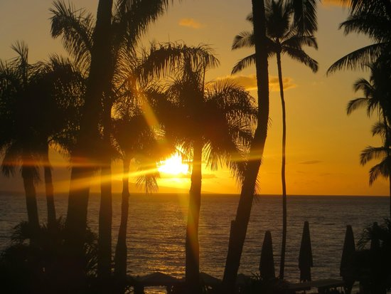 Four Seasons Resort Maui at Wailea: From the dinning area at night