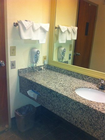 Days Inn Fayetteville-South/I-95 Exit 49 : More counter space, blow dryer , face cloths.