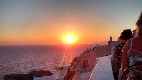 Fanari Restaurant: Vista do por do sol