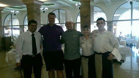 Atrium Palace Thalasso Spa Resort & Villas : Restaurant Staff