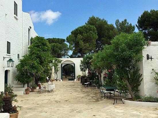 Masseria Il Frantoio : The nice courtyard of Il Frantoio