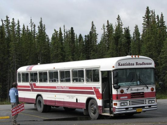 "Kantishna Roadhouse: Kantishna limousine, the so-called ""school bus"""