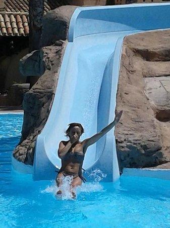 Playasol Spa Hotel: el tobogan,qué pasada!!