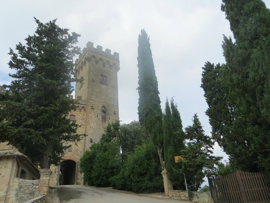 Tuscany Bike Tours: A view of the tour starting point - the castle in which we had wine tasting...