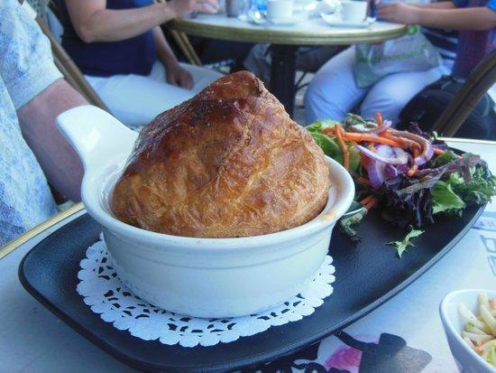 Seafood pie! Le Cochon Dingue, Du Petit- Champlain