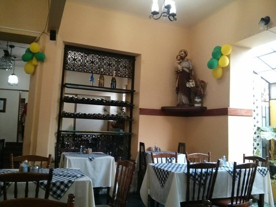 Hotel Caxambu: Santa no restaurante