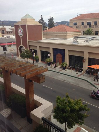 Andaz Napa: View of the street from our room.