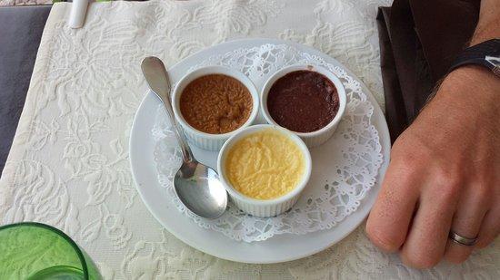 L'Hippocampe : Trio de crèmes prises en pot (menu 29 € )