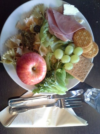 Clarion Collection Hotel With: Free evening meal. Pasta, pesto, fruits, ham etc.