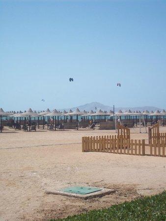 Jaz Mirabel Club: beach at 9am