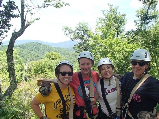 Sky Valley Zip Tours: Zip Lining with the Bridal Party
