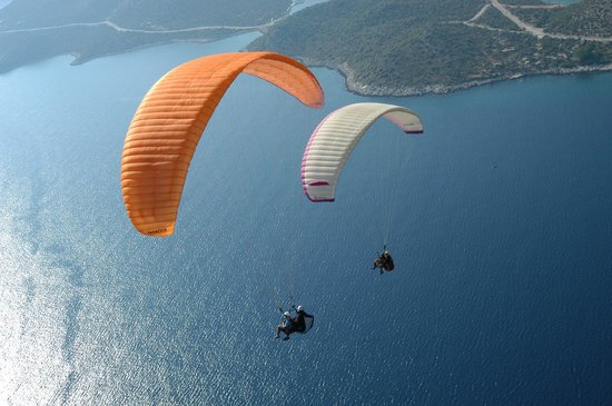 Paragliding by Xanthos travel