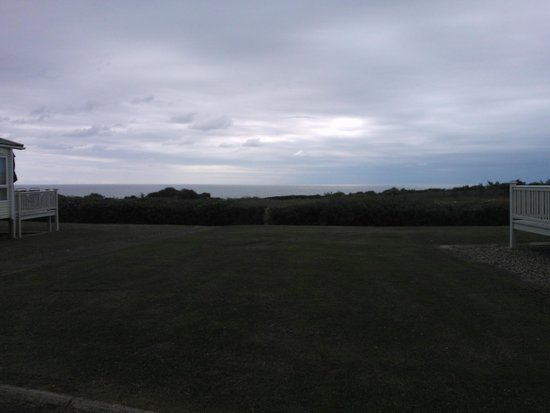 Primrose Valley Holiday Park - Haven: View from our caravan Wild flower Meadow area Primrose Valley