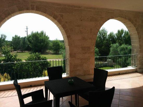 DoubleTree by Hilton Acaya Golf Resort-Lecce: Panorama dal terrazzo della camera