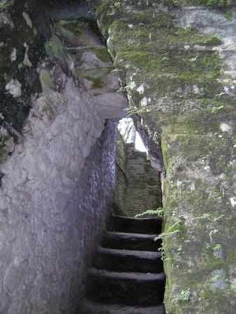 Ruines et musée de Cahal Pech : Narrow passageways and stairs