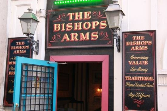 The Bishop Arms: street entrance.