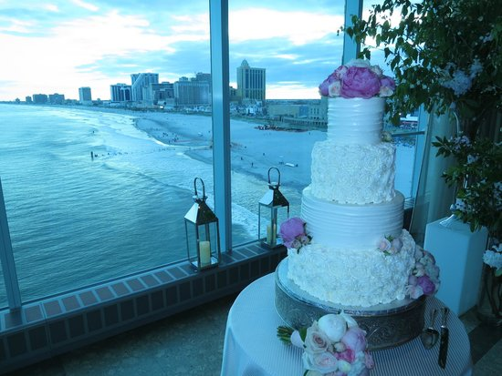 Caesars Atlantic City: view from wedding reception area at