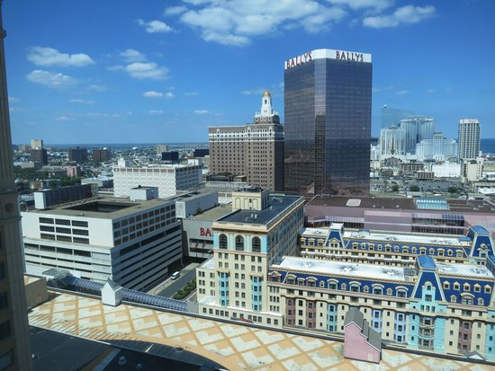 Caesars Atlantic City: view from centurion Tower NW corner room near top