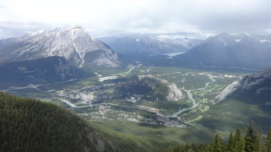 Banff Gondola: View of Banff from the summit