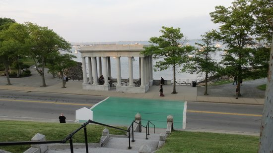 Plymouth Rock: view from the hill, great leg stretch for all of us