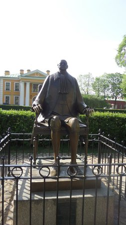 Peter-und-Paul-Festung (Petropawlowskaja Krepost): Estatua de Pedro el Grande